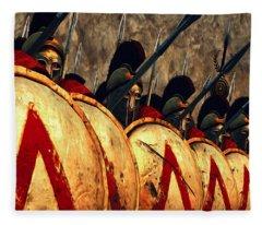 Spartan Army - Wall Of Spears Fleece Blanket