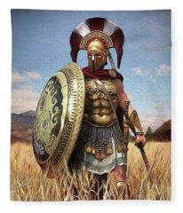 Spartan Hoplite - 02 Fleece Blanket