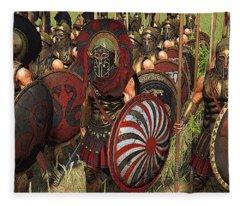 Spartan Warriors Before The Battle Fleece Blanket