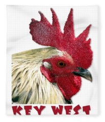 Special Edition Key West Rooster Fleece Blanket