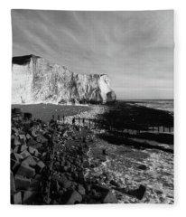 Spectacular Cliffs At Seaford Head Sussex England Fleece Blanket