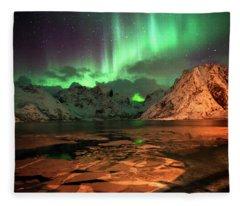 Spectacular Night In Lofoten 1 Fleece Blanket