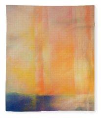 Spectral Sunset Fleece Blanket