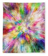 Spectral Tie Dye Starburst Fleece Blanket