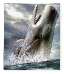 Sperm Whale Fleece Blanket