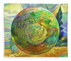 Sphering Of Succulents  Fleece Blanket