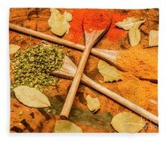 Spicy Kitchen Ingredients  Fleece Blanket
