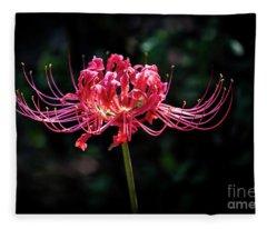 Spider Lily Fleece Blanket