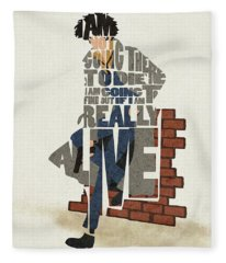 Spike Spiegel Typography Art Fleece Blanket