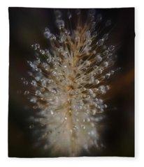 Spiked Droplets  Fleece Blanket