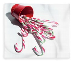 Spilled Candy Canes Fleece Blanket