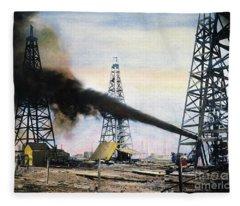 Spindletop Oil Pool, C1906 Fleece Blanket