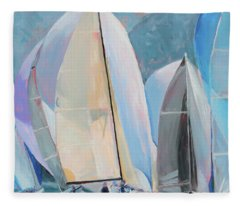 Spinnakers, Sails, Dreams Fleece Blanket