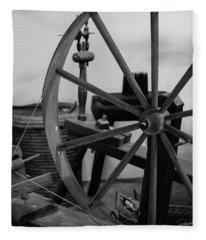 Spinning Wheel At Mount Vernon Fleece Blanket