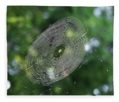 Spiny Orb Weaver's Web Fleece Blanket