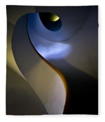 Spiral Concrete Modern Staircase Fleece Blanket