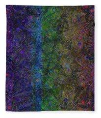 Spiral Spectrum Fleece Blanket