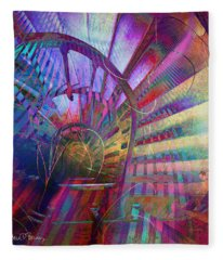 Spiral Staircase Fleece Blanket
