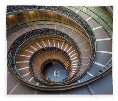 Spiral Staircase In St. Peter's Basilica Fleece Blanket