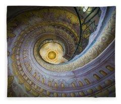 Spiral Staircase Melk Abbey I Fleece Blanket
