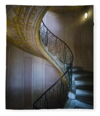 Spiral Staircase Melk Abbey II Fleece Blanket
