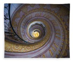 Spiral Staircase Melk Abbey IIi Fleece Blanket
