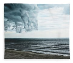 Spiraling Storm Clouds Over Daytona Beach, Florida Fleece Blanket