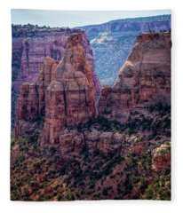 Spires And Mesa Country Fleece Blanket