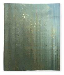 Spires Through A Window Fleece Blanket