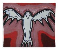 Spirit Crow Original Painting Fleece Blanket