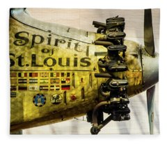 Spirit Of St Louis Fleece Blanket