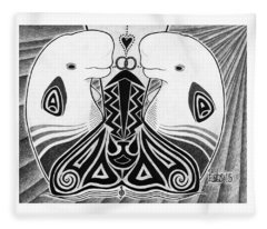Spirit Of The Arctic Fleece Blanket