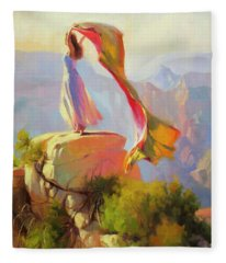 Spirit Of The Canyon Fleece Blanket
