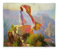 Spirit Of The Canyon Fleece Blanket