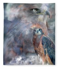 Spirit Of The Hawk Fleece Blanket