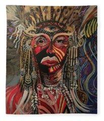 Spirit Portrait Fleece Blanket