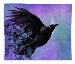 Spirit Raven Fleece Blanket
