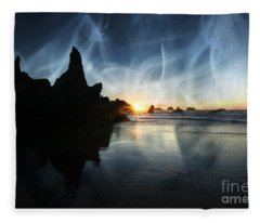 Spirits At Sunset Fleece Blanket