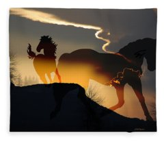 Spirits In The Sky Fleece Blanket