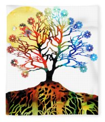 Spiritual Art - Tree Of Life Fleece Blanket