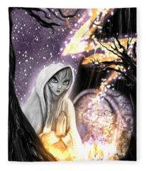 Spiritual Ghost Fantasy Art Fleece Blanket