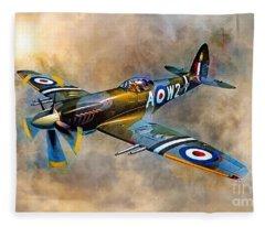 Spitfire Dawn Flight Fleece Blanket