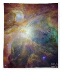 Spitzer And Hubble Create Colorful Masterpiece Fleece Blanket