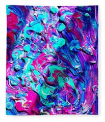 Splash Of Color Fleece Blanket