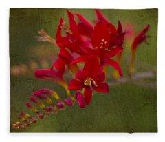 Splash Of Red. Fleece Blanket