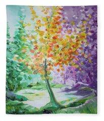Splash Tree Fleece Blanket