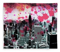 Splatter Pop Fleece Blanket