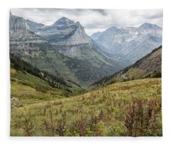 Splendor From Highline Trail - Glacier Fleece Blanket