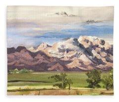 Split Mountain Fleece Blanket