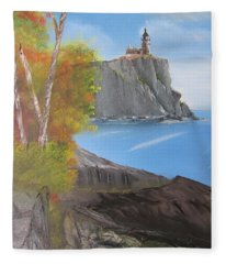 Split Rock Lighthouse Minnesota Fleece Blanket